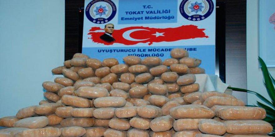 Tokat'ta 6.5 milyon TL'lik eroin çıktı!