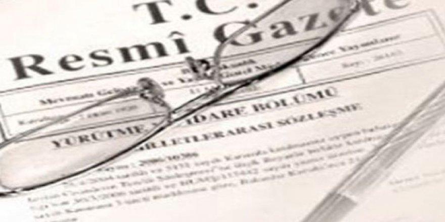 Kritik atamalar Resmi Gazetede yayımlandı