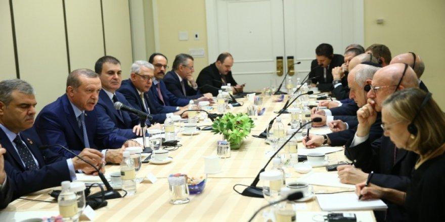 Erdoğan, ABD'deki Yahudi kuruluşlarının temsilcileri ile görüştü