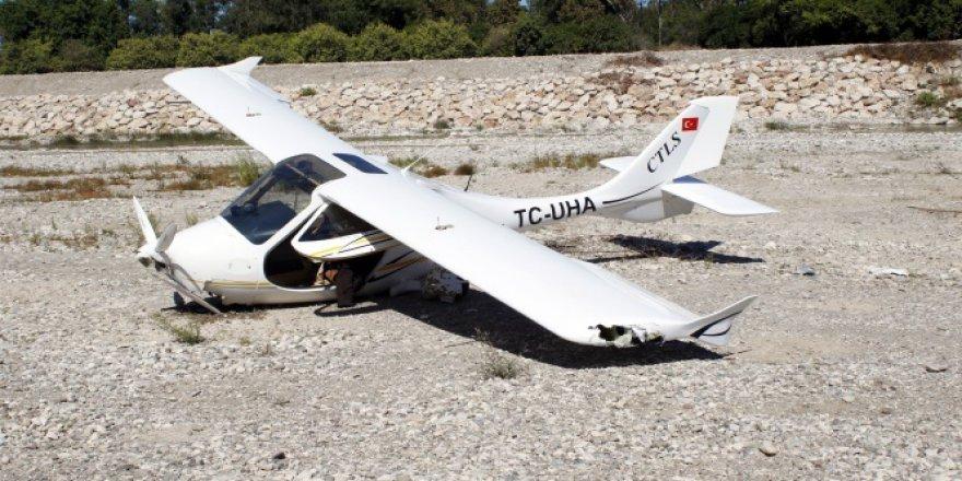 Ultralight tipi uçak zorunlu iniş yaptı