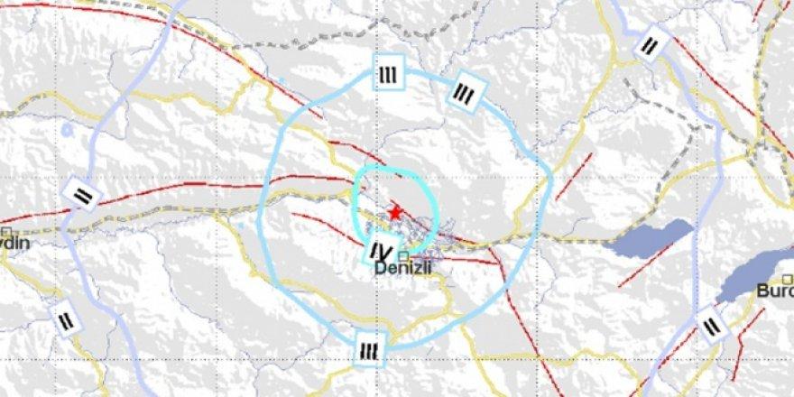 Denizli'de 4.2 şiddetinde deprem