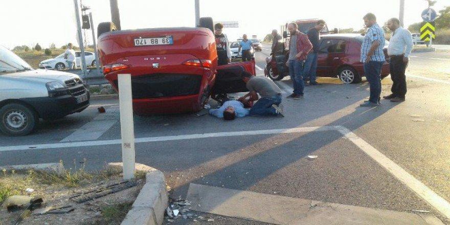 Kırklareli'de Kaza Yapan Otomobile Başka Bir Otomobil Çarptı: 2 Yaralı
