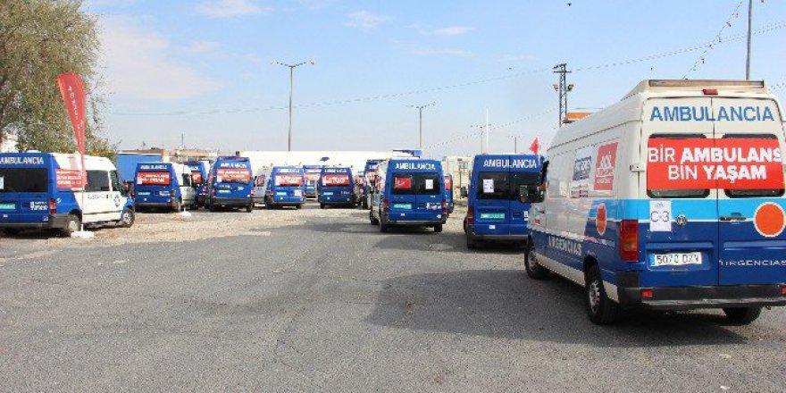 Suriye'ye Gidecek 24 Ambulans Türkiye'ye Giriş Yaptı