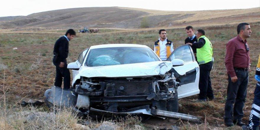Sivas, Gemerek'te trafik kazası: 1 yaralı