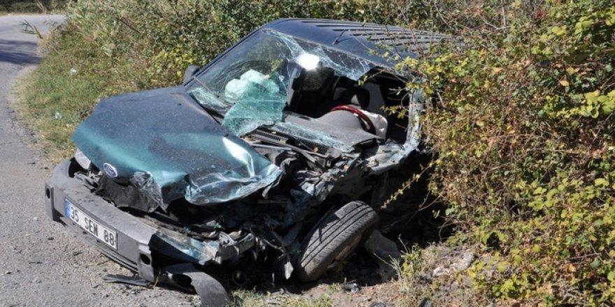 Manisa, Soma'da trafik kazası: 1 yaralı