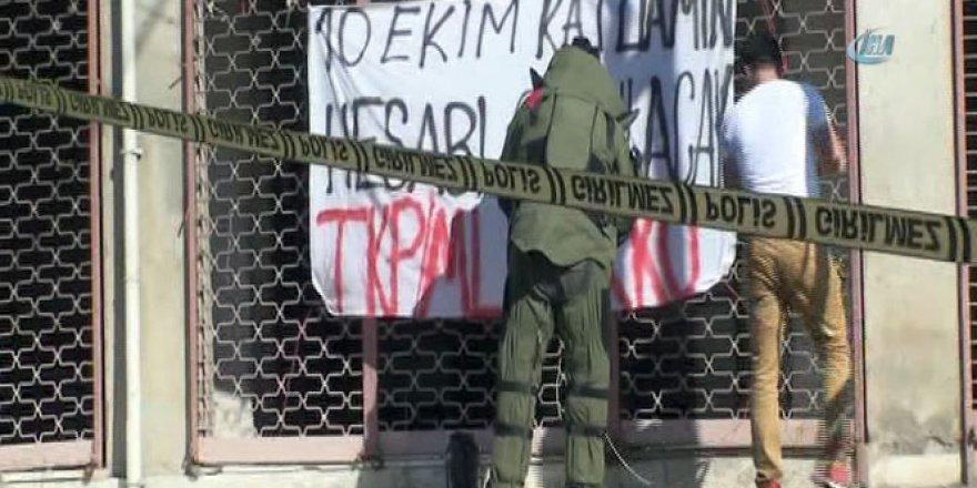 İstanbul Maltepe'de 'bombalı pankart' alarmı