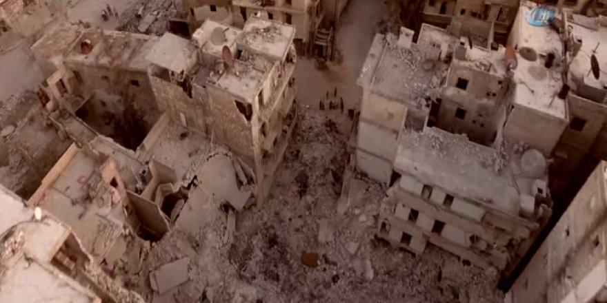Suriye, Halep'teki yıkım böyle görüntülendi