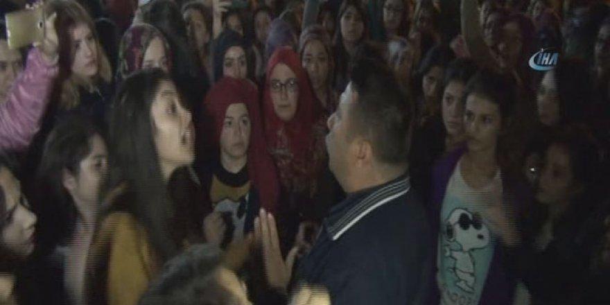 Yurtta kalan kız öğrencilerin ''kaçırılma'' eylemi