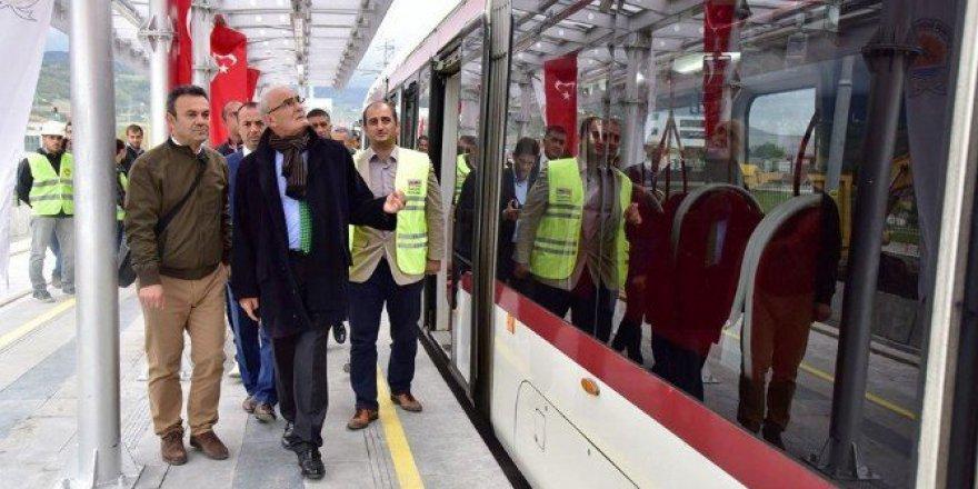 Samsun'da Raylı Sistemde Gar-Tekkeköy Seferleri Pazartesi Başlıyor
