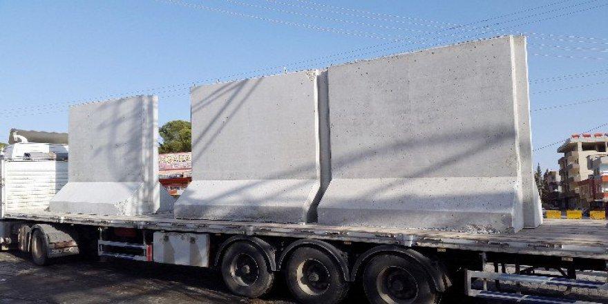 Şanlıurfa, Akçakale'ye Sınır Güvenliği İçin Beton Duvarlar Getiriliyor