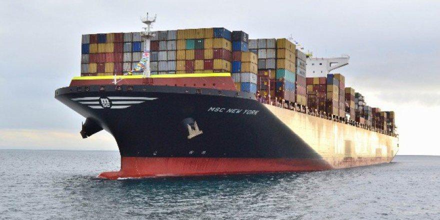 Türkiye'ye Bugüne Kadar Gelen En Büyük Gemi ''MSC New York'' Tekirdağ'da