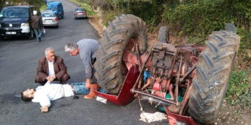 Zonguldak, Çaycuma'da Traktör Kazası: 1 Yaralı