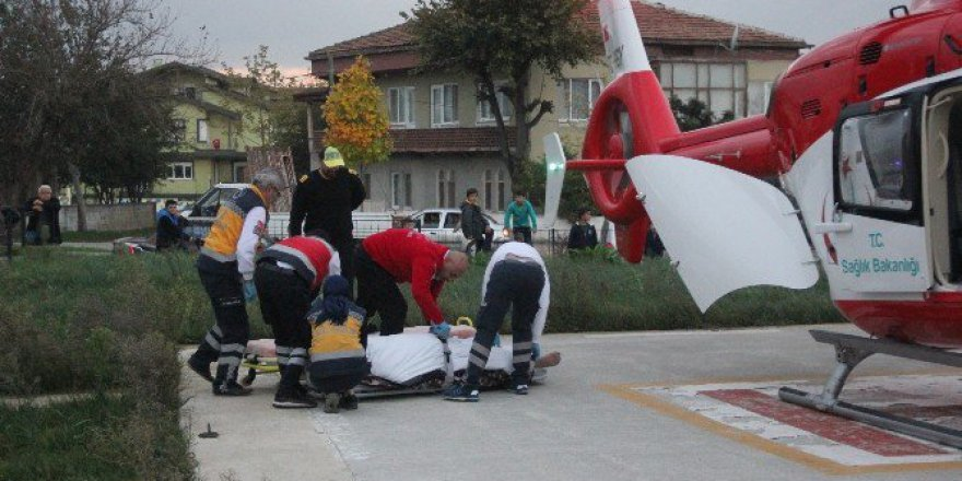 Sinop'ta Beyin Kanaması Geçiren Şahsın İmdadına Hava Ambulansı Yetişti