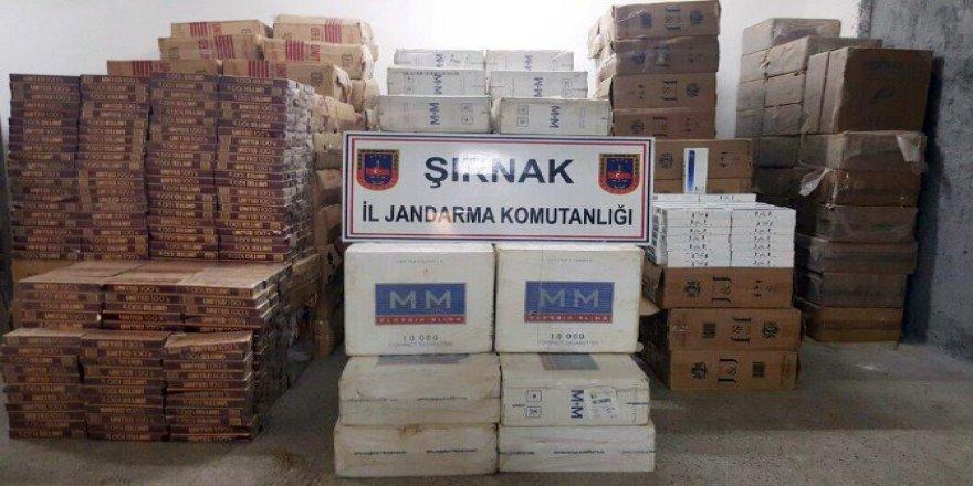 Şırnak, Beytüşşebap'ta 130 Bin Paket Kaçak Sigara Ele Geçirildi