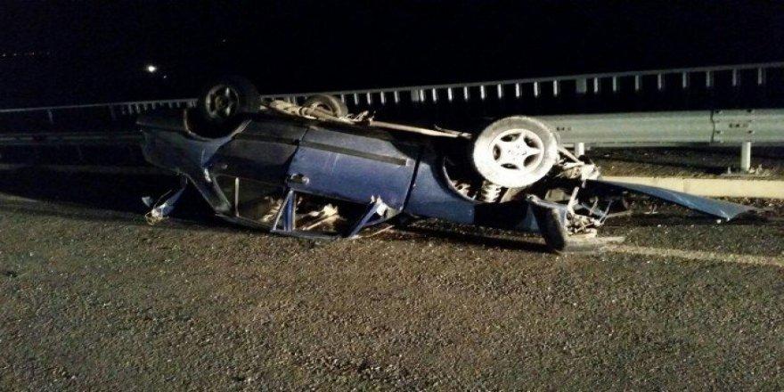 Adıyaman, Besni'de Otomobil Takla Attı: 1 Yaralı
