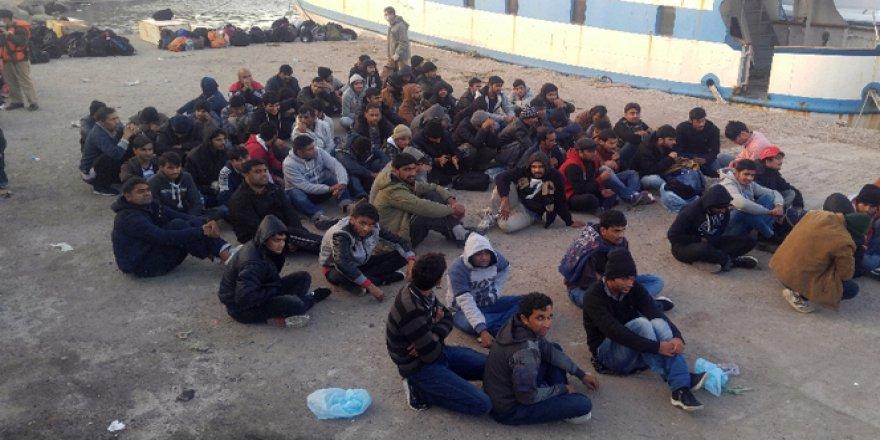 Çanakkale, Bozcaada'da 181 Kaçak Göçmen Yakalandı