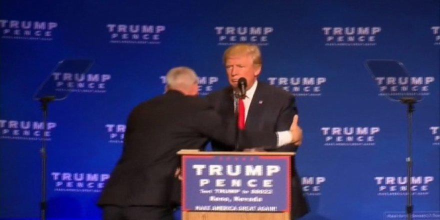 Donald Trump apar topar kaçırıldı