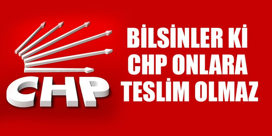 CHP'den Suç duyurusuna bir yanıt daha!
