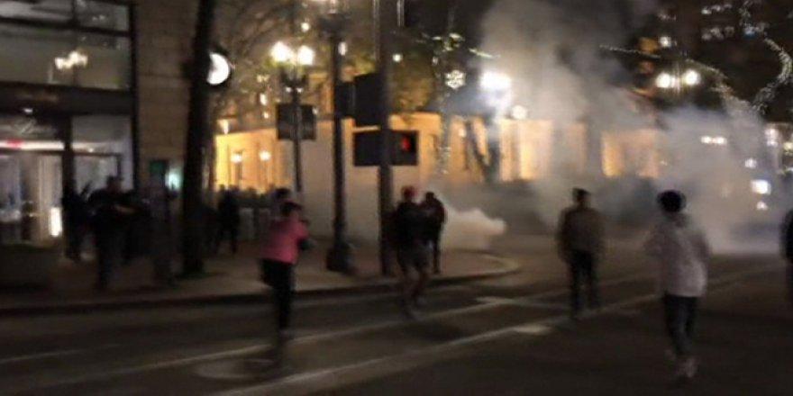 Trump karşıtı protestolar ikinci gecesinde de devam etti