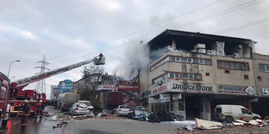 İstanbul Sultanbeyli sanayi sitesinde patlama! 3 Yaralı..