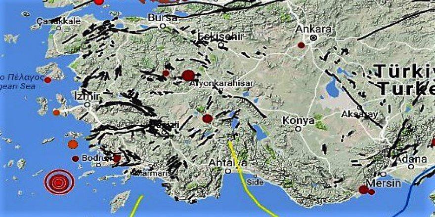 Ege Denizinde 1 Saatte 9 Büyük Deprem
