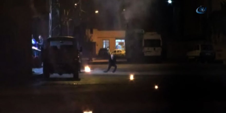 Adana'da polise molotof atan PKK yandaşı böyle vuruldu