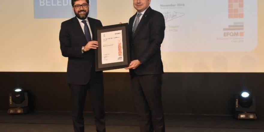 Beşiktaş Belediyesi'ne ''2016 Türkiye Mükemmellik Ödülü''