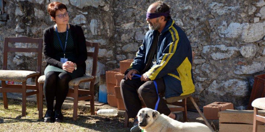 Köpeği zehirlenen görme engelli vatandaşa yeni dost