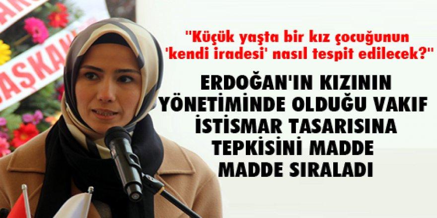 Bir tepki de Sümeyye Erdoğan'ın vakfından