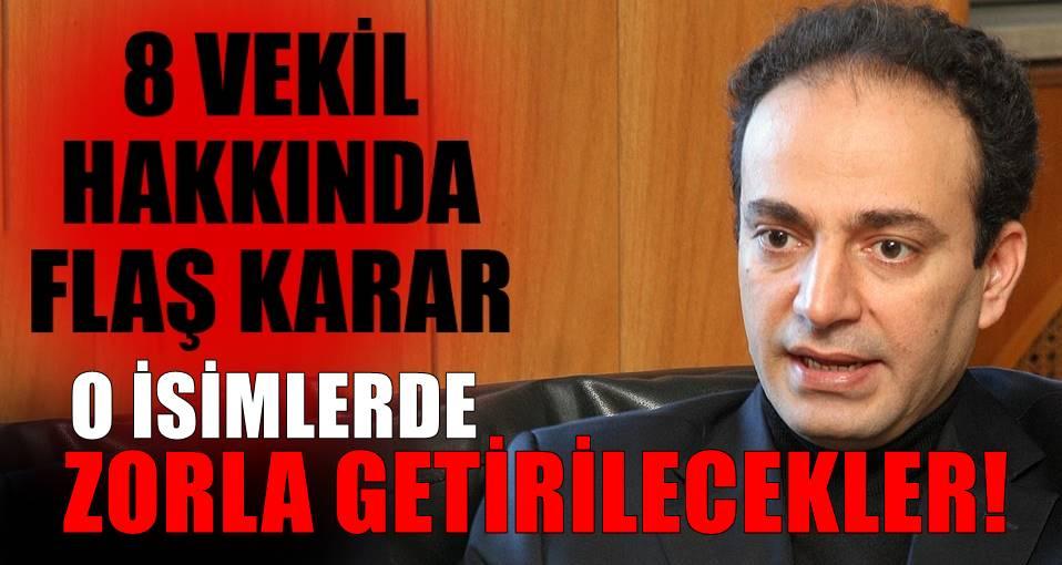 HDP'li 8 vekil hakkında zorla getirilme kararı!