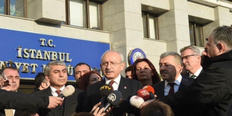 Kemal Kılıçdaroğlu İstanbul Emniyet Müdürlüğü'nde