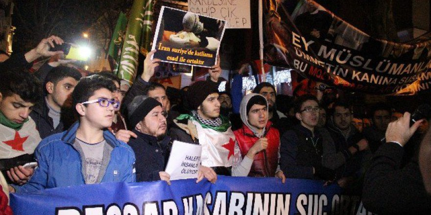 İran Başkonsolosluğu Önünde Halep Protestosu