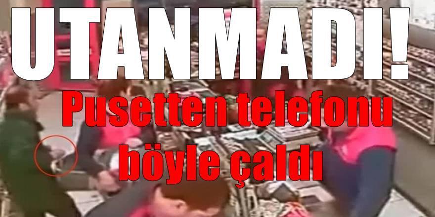 Adana'da akıl almaz olay! Pusetten telefonu böyle çaldı
