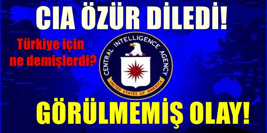 Görülmemiş olay! CIA Türkiye'den özür diledi! İşte nedeni