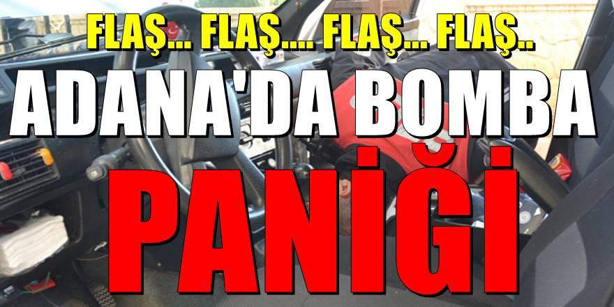 Adana'da şüpheli otomobilde bomba paniği