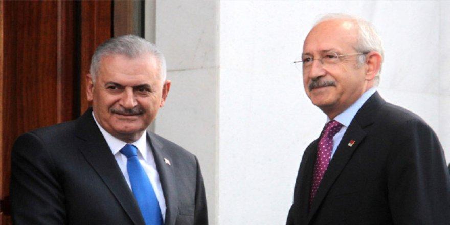 Başbakan Yıldırım, Mecliste CHP Genel Başkanı Kılıçdaroğlu İle Görüştü