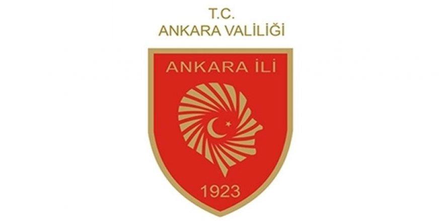 Ankara Valiliği'nden Yasak!