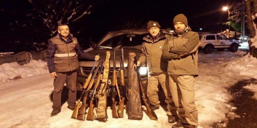 Zonguldak'ta Ekipler Kaçak Avcılara Göz Açtırmıyor