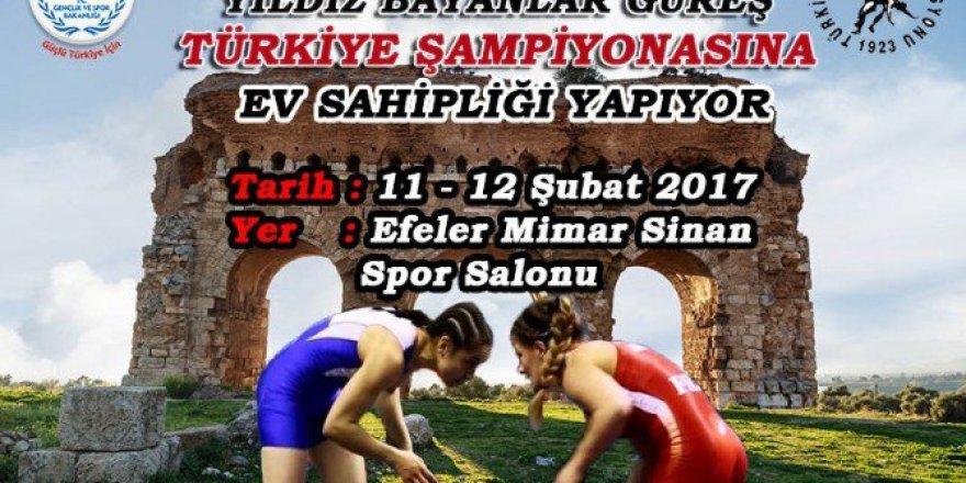 Yıldız Bayanlar Güreş Türkiye Şampiyonası 11-12 Şubat'ta Aydın'da Yapılacak