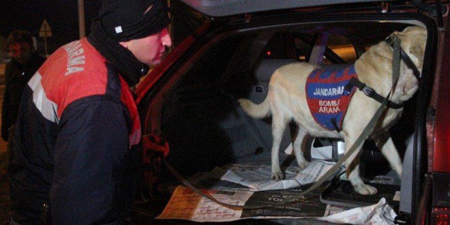 Bolu'da Bomba Arama Köpeği Destan İle Huzur Operasyonu