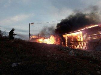 Malatya, Konak Bahçebaşı Mahallesi'nde Bağ Evi Yangını