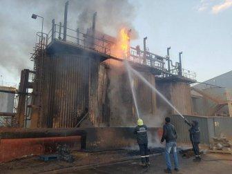 Tepeköy'de Altın Madeninin İşlendiği Fabrikada Yangın