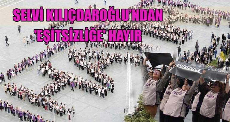 İzmir'de CHP'li kadınlardan HAYIR etkinliği