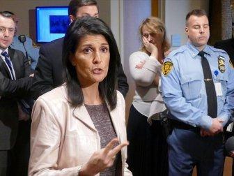 ABD'nin BM Temsilcisi Haley'den Filistin'e ''Çözümü BM'de Aramayın'' Çağrısı