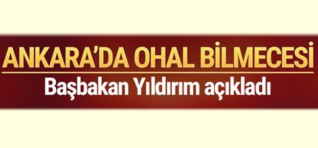 Ankara'nın konuştuğu OHAL iddiası! Başbakan açıkladı!