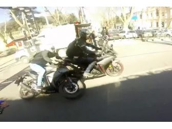 Motosiklet Kazası Kamerada