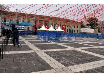 Eskişehir'de Cumhurbaşkanının Programı Öncesi Hazırlıklar Tamamlandı