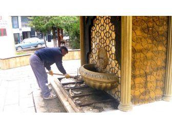 Selçuklu Ve Osmanlı Mimarisinin Motifleriyle Süslü Çeşmelere Bakım Yapılıyor