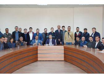 Şehit Enes Çiçek Mesleki Ve Teknik Anadolu Lisesi'nden Kaymakamı Ömer Çimşit'e Ziyaret