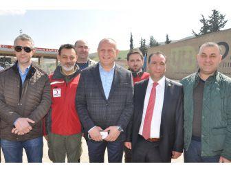 Düzce Belediyesinden Suriyelilere Yardım